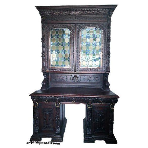 Antik,reneszánsz stílusú írószekrény,íróasztal,szekreter