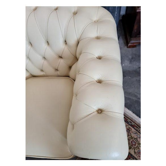 Eredeti chesterfield bőr ülőgarnitúra