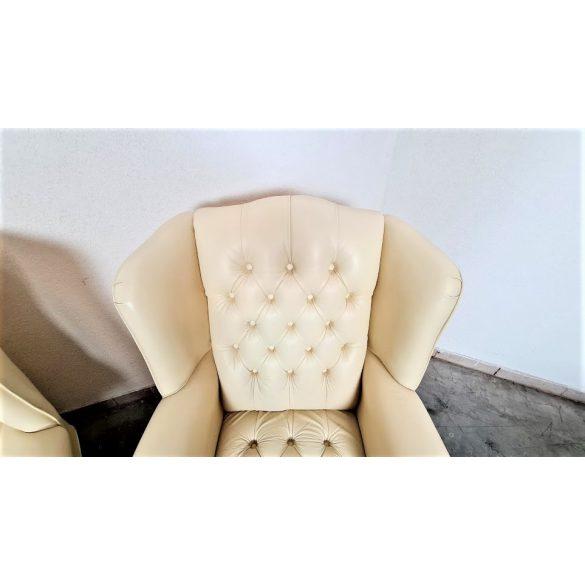 Chesterfield füles bőr fotelek