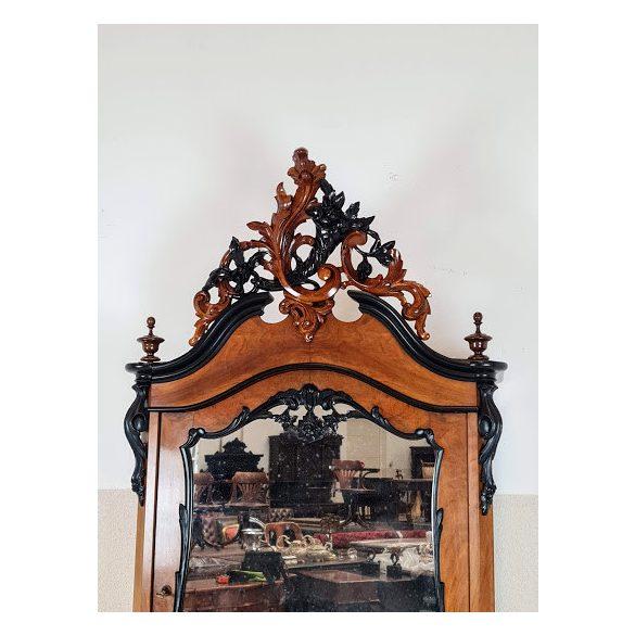 Gyönyörű antik biedermeier tükrös szekrény