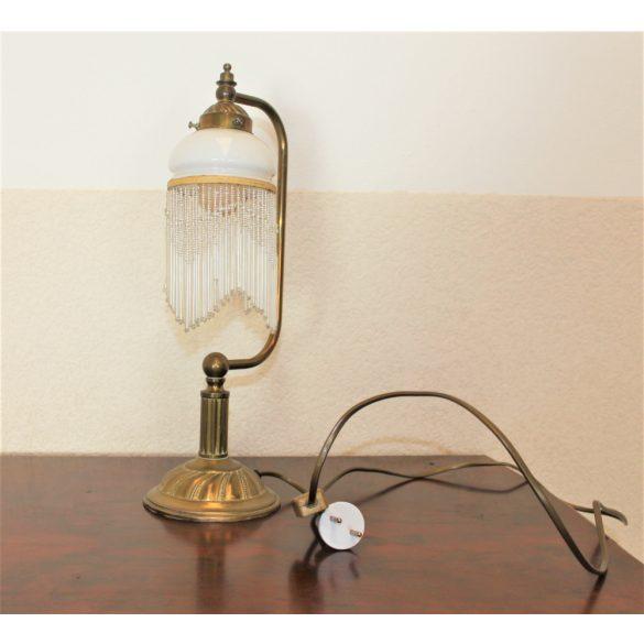 Antik üvegfüggős éjjeli lámpa