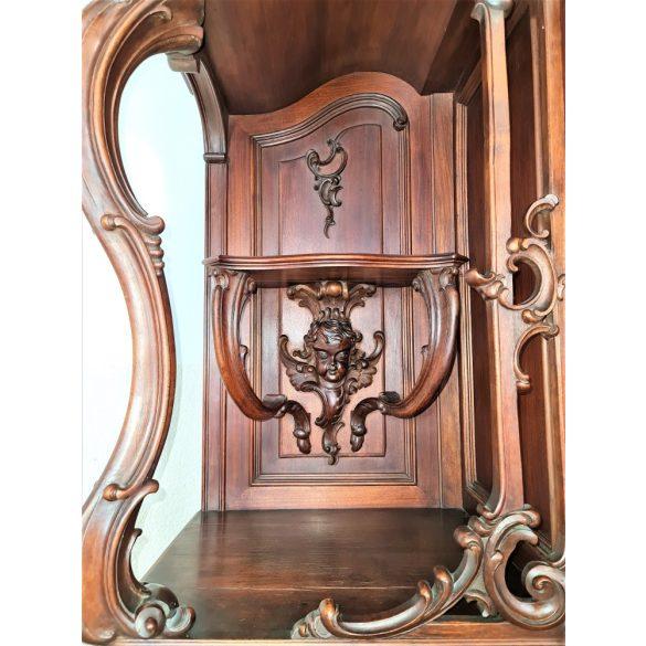 Gyönyörű, monumentális antik bécsi barokk tálalószekrény