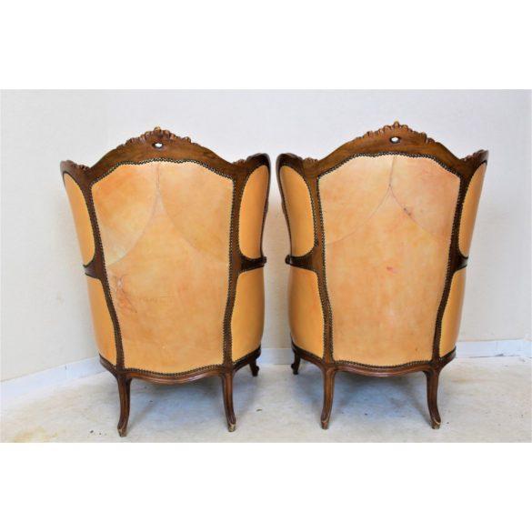 Antik barokk bőr fotelek