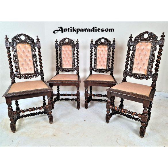 Nagyon szép antik reneszánsz stílusú,dúsan faragott székek