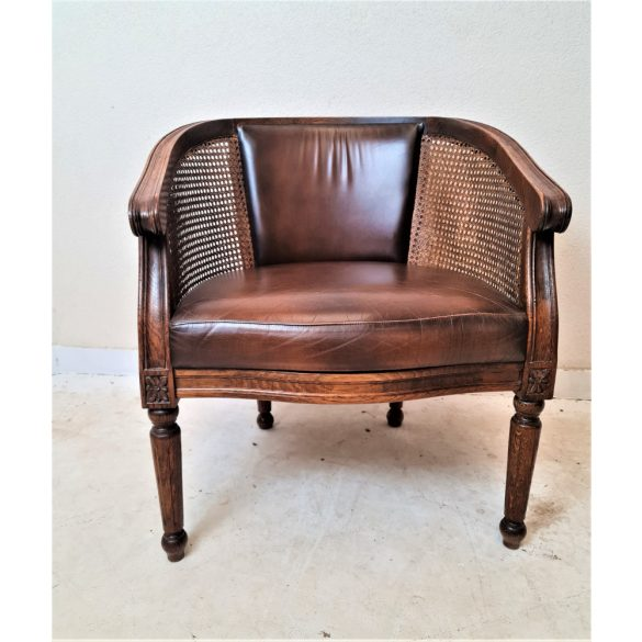 Nádazott kafás bőr szék