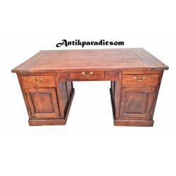 Tömör teak fa íróasztal