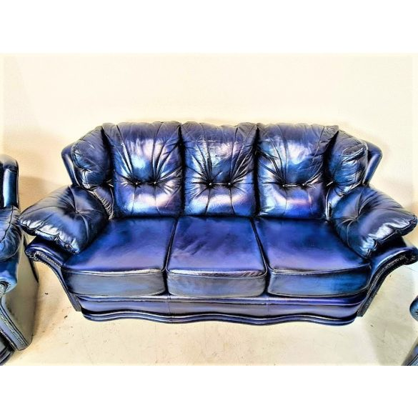 Gyönyörű  eredeti chesterfield bőr ülőgarnitúra 3-1-1