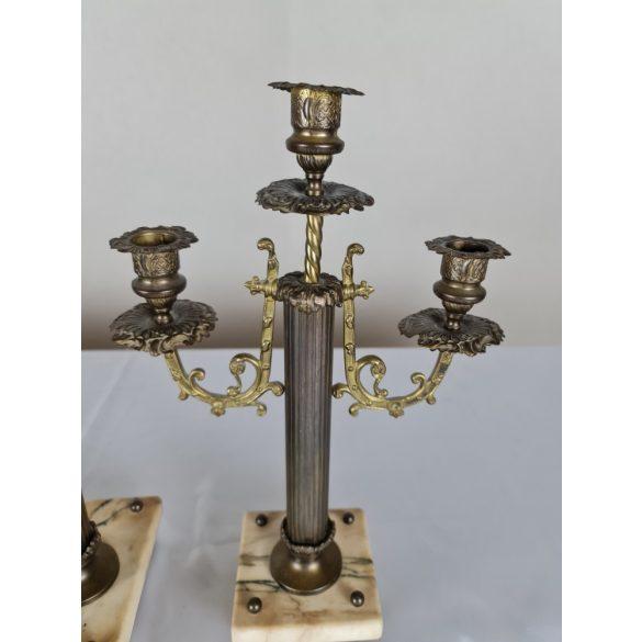 Antik biedermeier kandalló óra