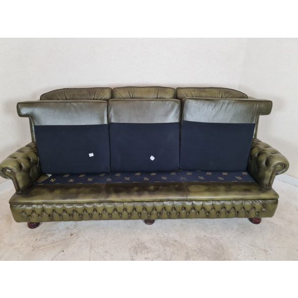 Gyönyörű eredeti chesterfield bőr kanapé