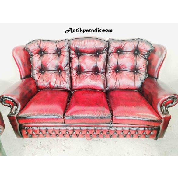 Gyönyörű eredeti chesterfield bőr ülőgarnitúra