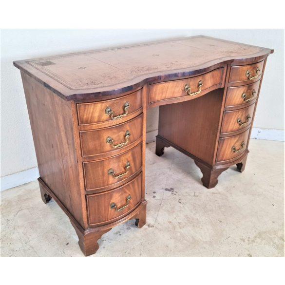 Antik Angol bőrlapos íróasztal