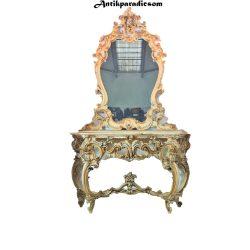 Gyönyörű Olasz velencei barokk konzolasztal tükörrel