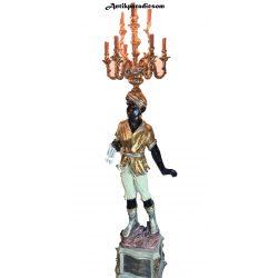 Gyönyörű barokk rokokó blackamoor lámpák