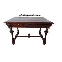 Frissen felújított antik fiókos asztal, íróasztal